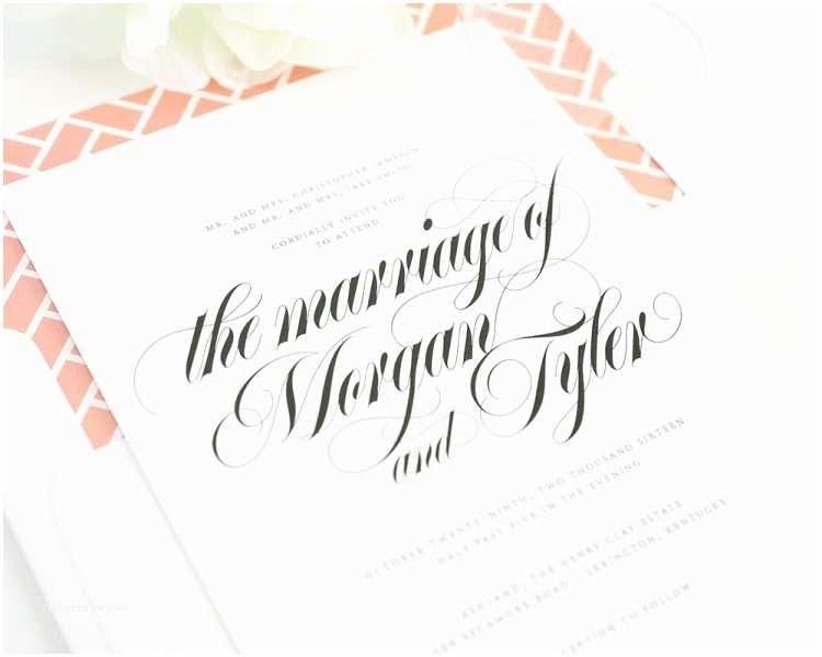 Wedding Invitations In Long island Designs Calligraphy Wedding Invitations Long island as