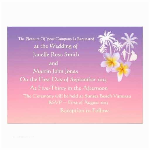 Wedding Invitations In Long Island Frangipani Beach Island Wedding Invitations 13  X 18