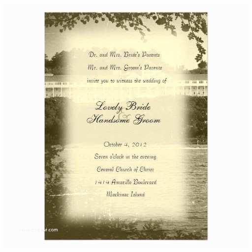 Wedding Invitations In Long island Personalized Mackinac Invitations