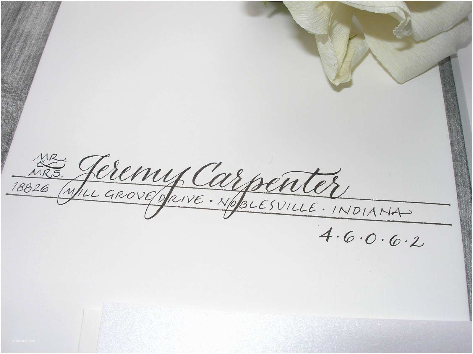 Wedding Invitations Indiana Wedding Calligraphy by Jane Farr Indianapolis Wedding