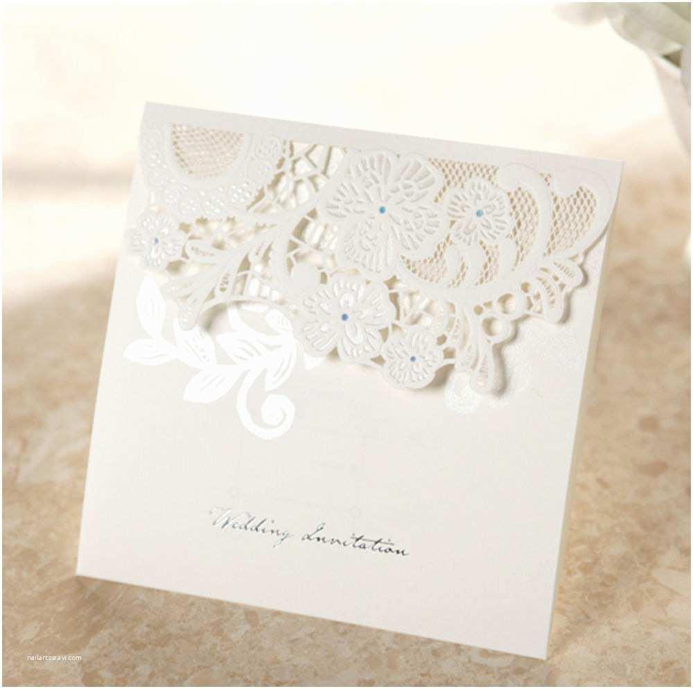 Wedding Invitations Lace 150 Flower Lace Wedding Invitations Kit and Envelopes