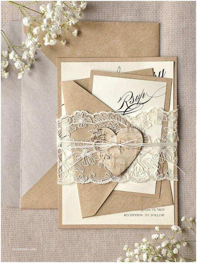 Wedding Invitations Lace Custom Listing 100 Rustic Lace Wedding Invitation