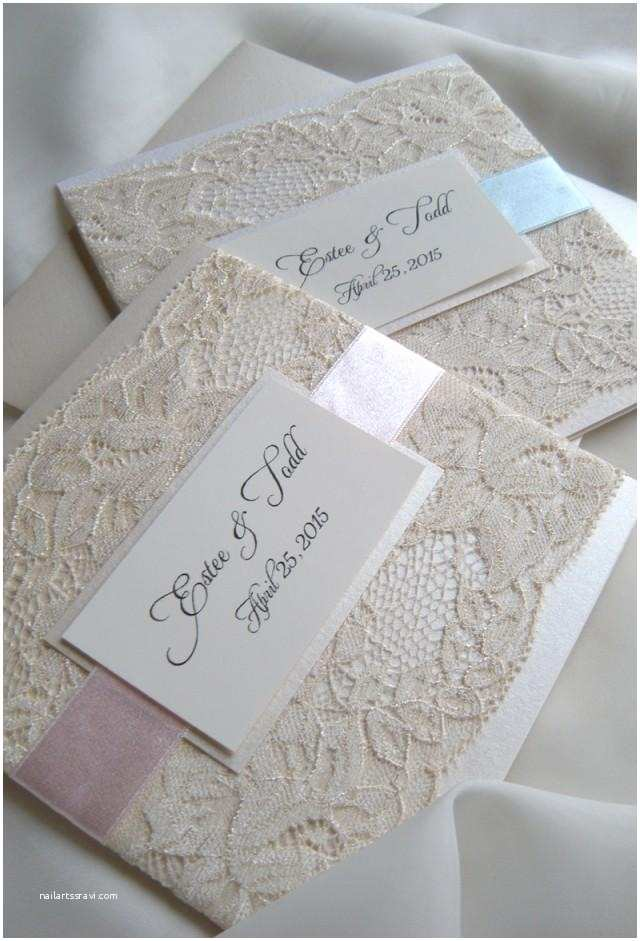 Wedding Invitations Lace Lace Wedding Invitations Weddbook