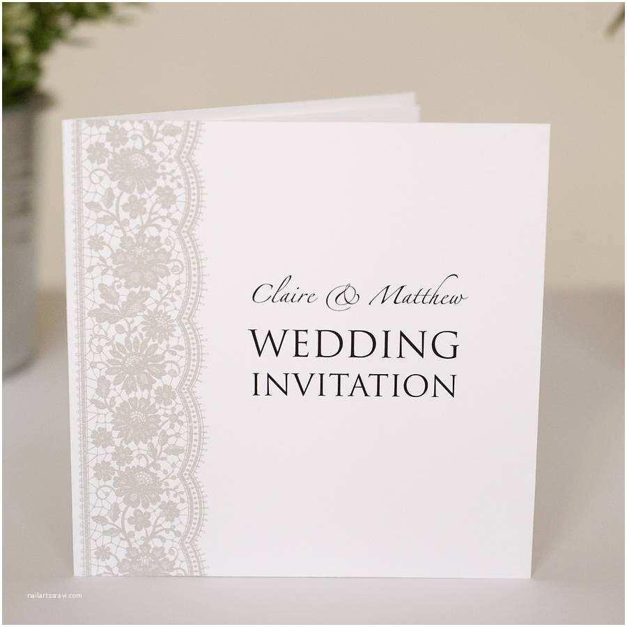 Wedding Invitations Lace Personalised Lace Wedding Invitations by Twenty Seven