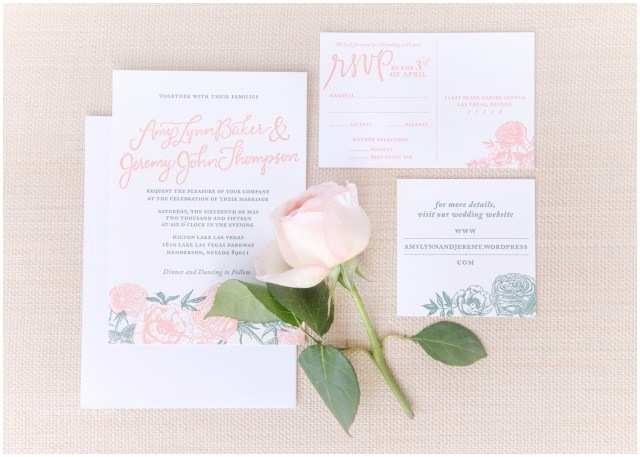 Wedding Invitations Las Vegas Nv English Rose Garden themed Wedding Invitation Suite by