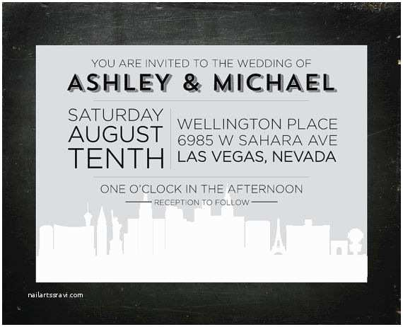 Wedding Invitations Las Vegas Nv Las Vegas tourist Board Invitation