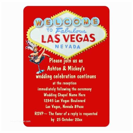 Wedding Invitations Las Vegas Nv Las Vegas Wedding Reception Invitation Business Card
