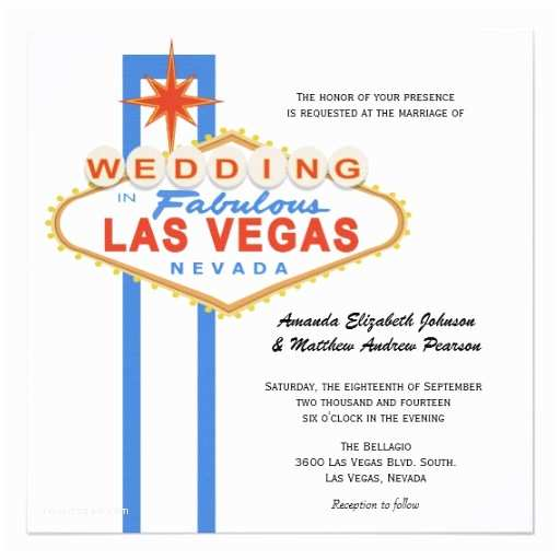 Wedding Invitations Las Vegas Nv Personalized Las Vegas Wedding Invitations