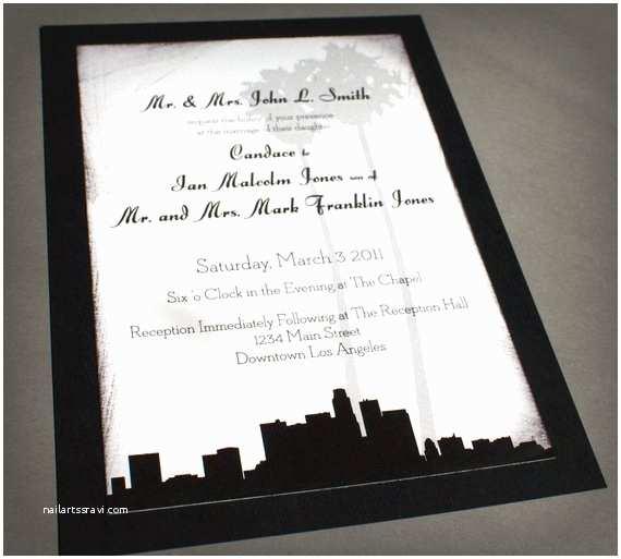Wedding Invitations Los Angeles Los Angeles Invitation Wedding Birthday Save the Date Skyline