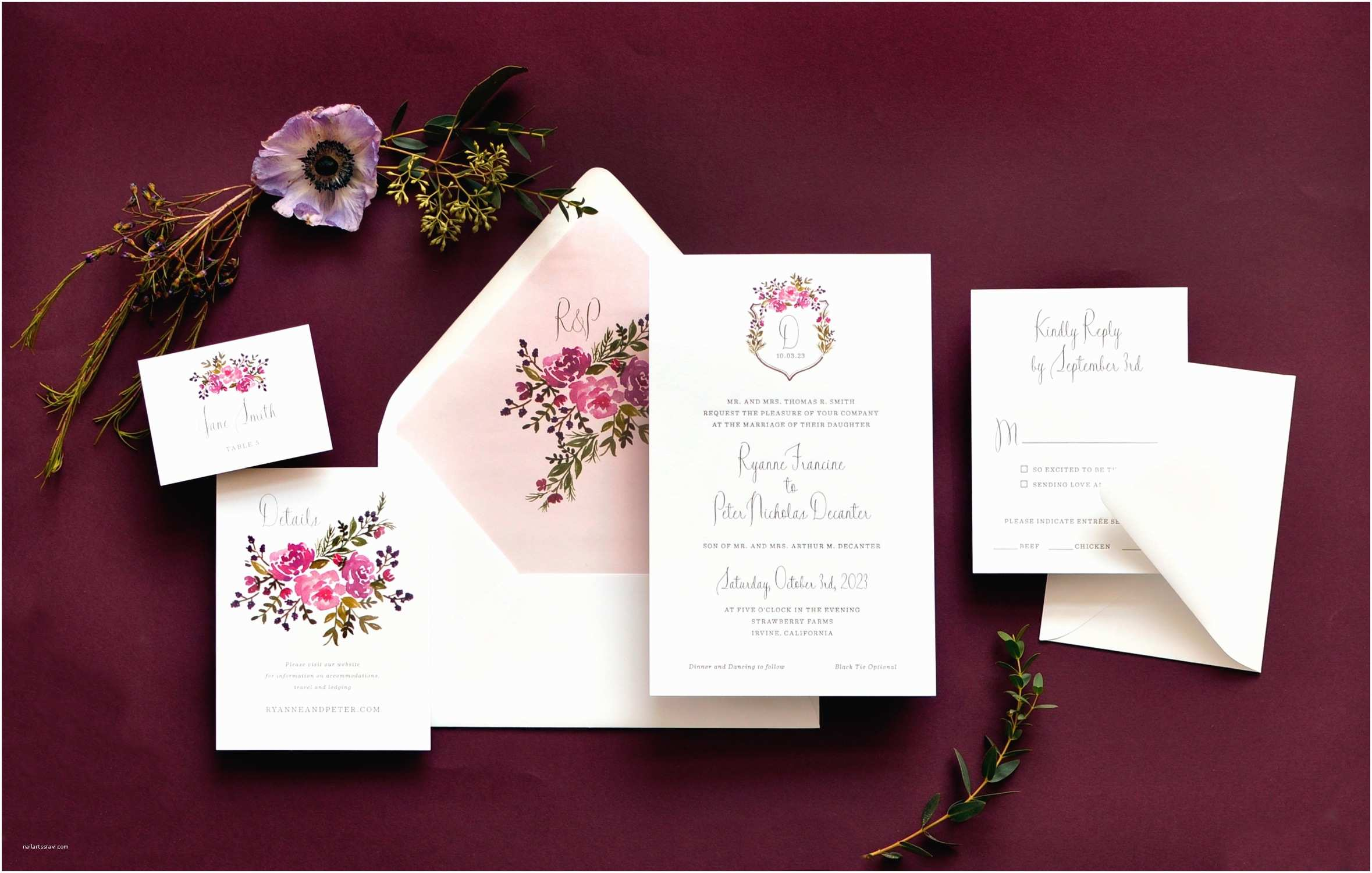 luxury wedding invitations los angeles