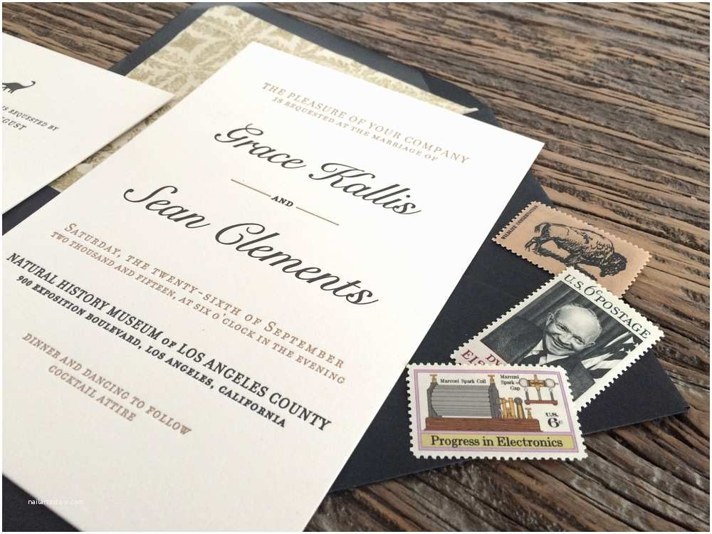 Wedding Invitations Los Angeles Wedding Invitations — Underwood Letterpress