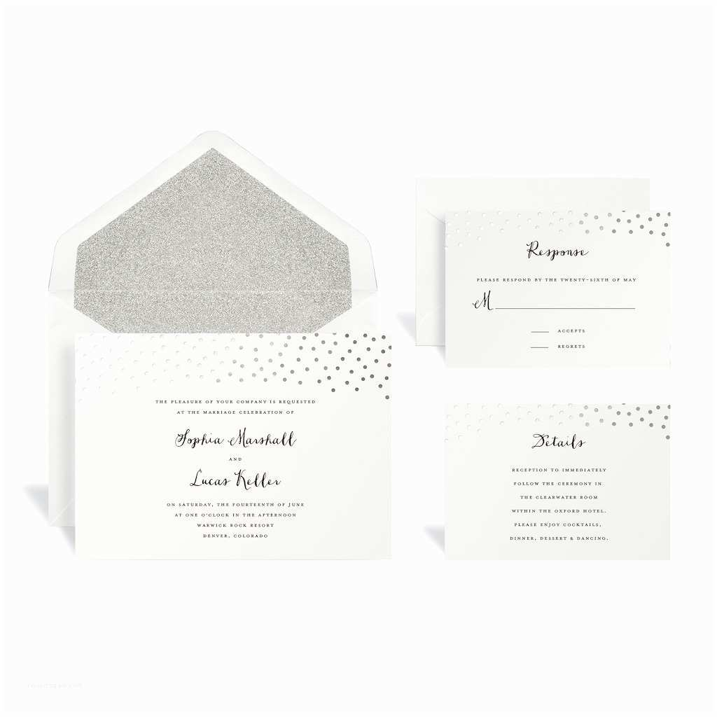 Wedding Invitations Michaels Craft Store Buy the Silver Dot Wedding Invitation Kit by Celebrate It