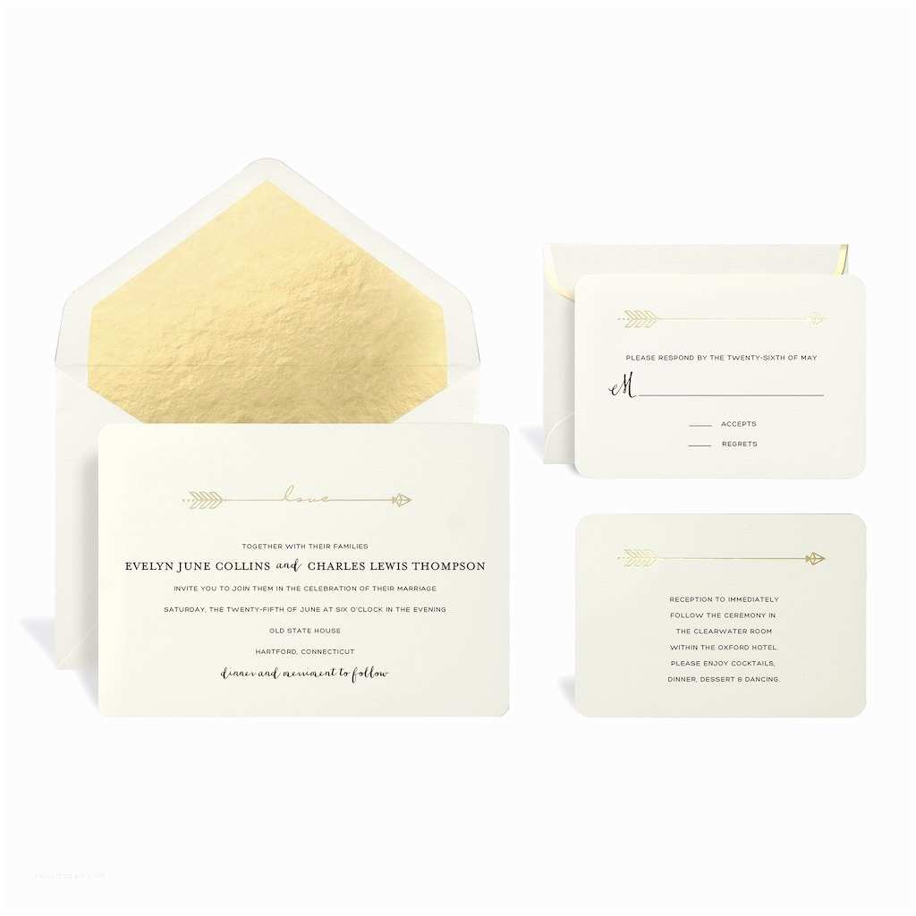 Wedding Invitations Michaels Craft Store Find the Gold Arrow Wedding Invitation Kit by Celebrate It