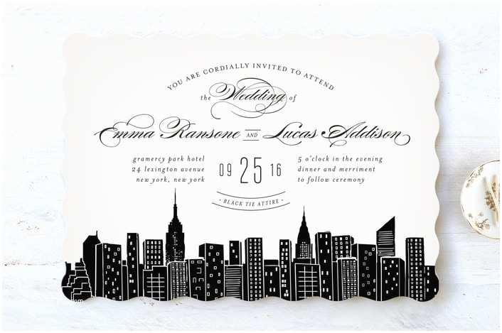 Wedding Invitations Nyc Big City New York Wedding Invitations by Hooray Creativ