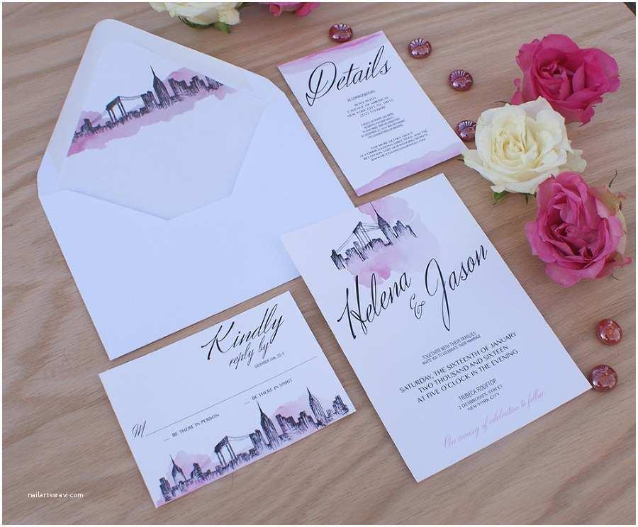 Wedding Invitations Nyc New York City themed Wedding Invitations