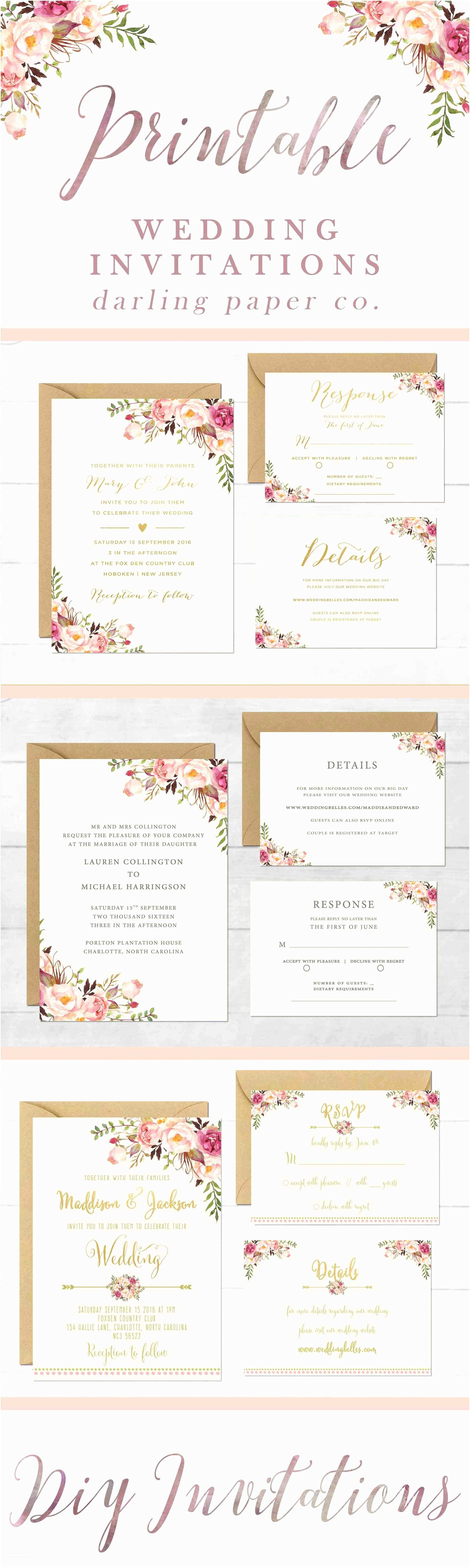 Wedding Invitations Online Programs Modern Blank Wedding Invitations Templates Gold