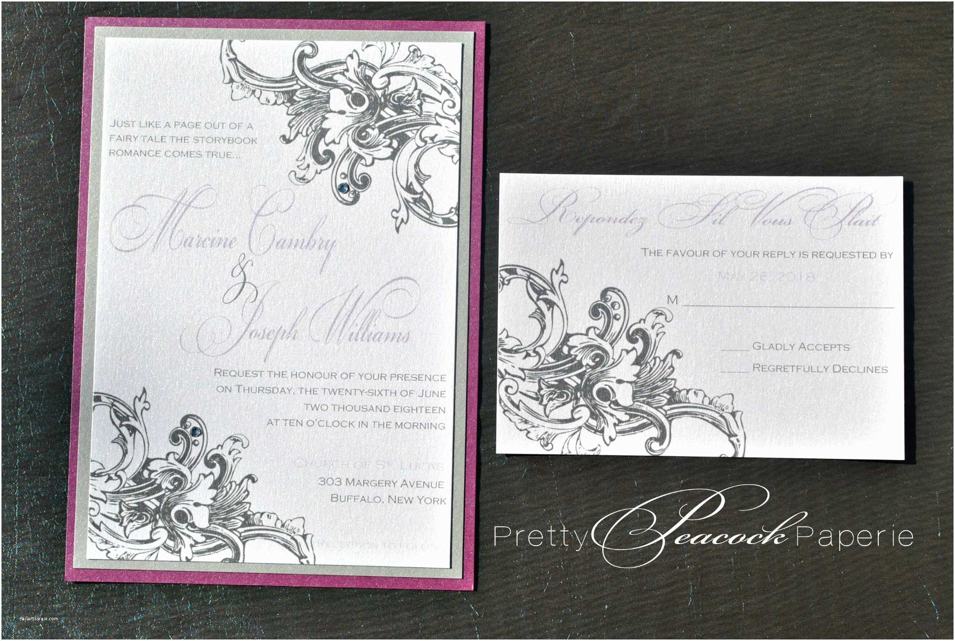 Wedding Invitations orlando Fl French Baroque Invitation Suite by Pretty Peacock Paperie