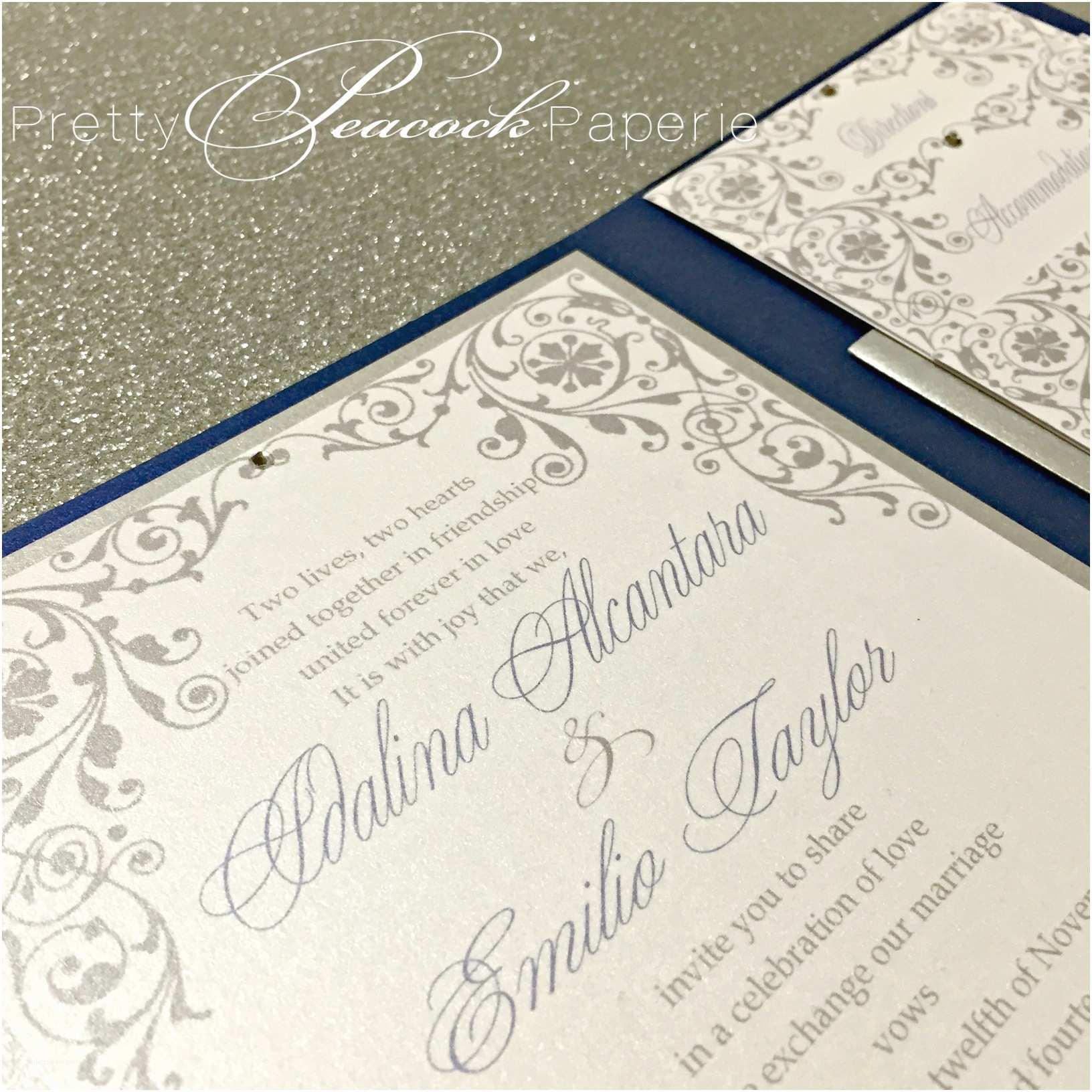 Wedding Invitations orlando Fl Idalina S Beautiful Navy Wedding Invitations Bella