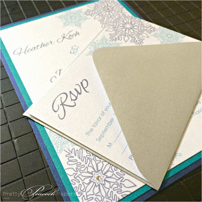 Wedding Invitations orlando Fl Jewel tones Winter Wonderland Wedding Invitations by