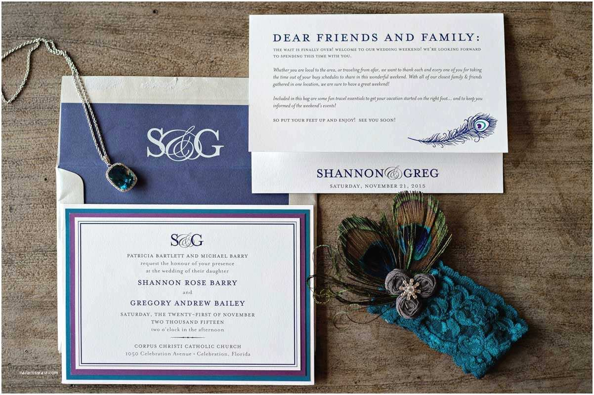 Wedding Invitations orlando Fl Vibrant Peacock Wedding at Reunion Resort In orlando Fl