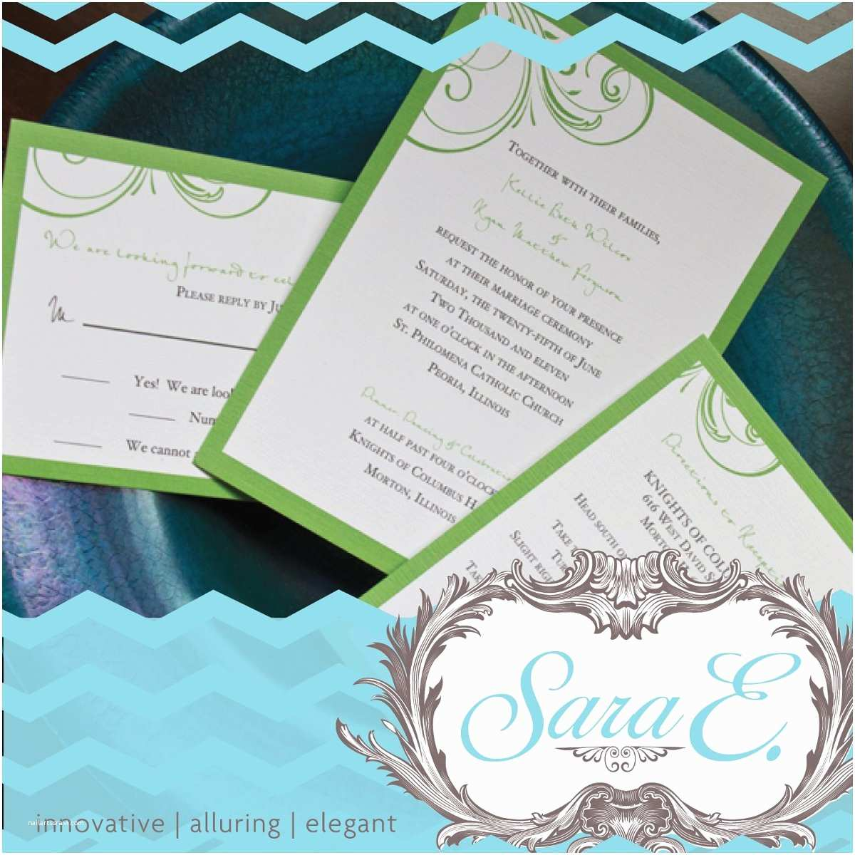 Wedding Invitations Peoria Il Sara E Designs Wedding Invitations Illinois