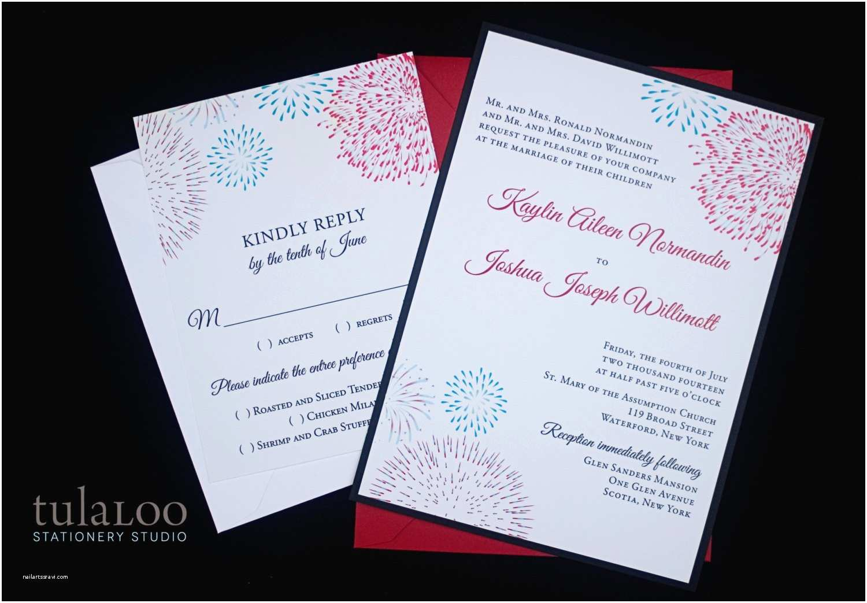 fireworks wedding invitation sample