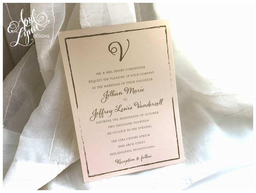 Wedding Invitations Philadelphia Jillian Jeff S Wedding Invitation Suite