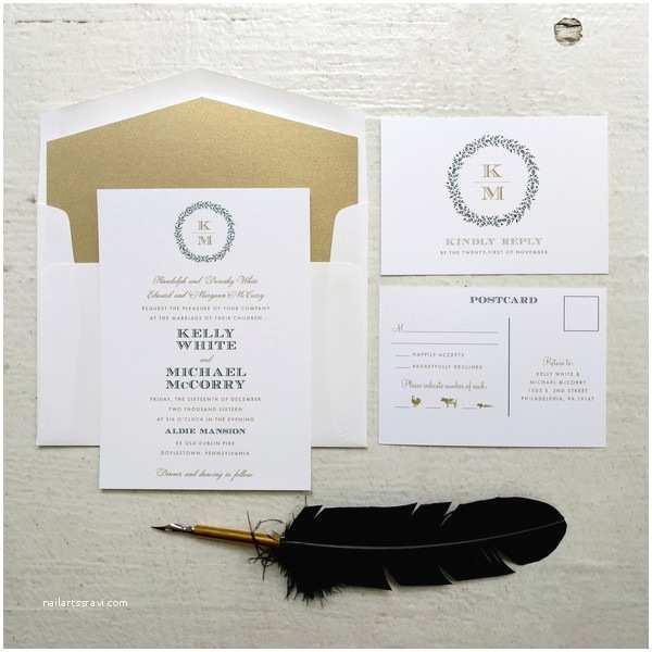 Wedding Invitations Philadelphia Paper On Pine Philadelphia Pa Wedding Invitation