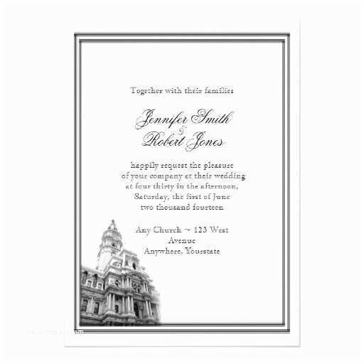 Wedding Invitations Philadelphia Philadelphia Destination Wedding Invitation