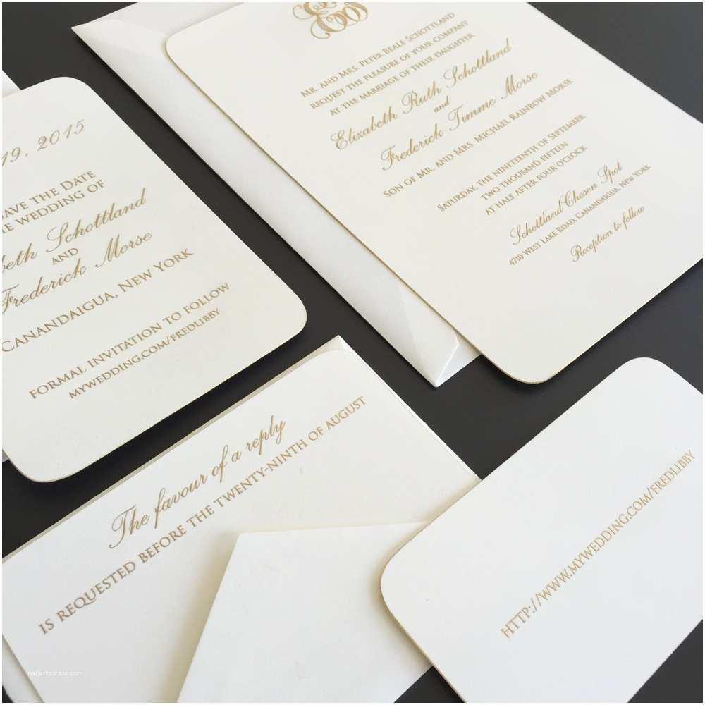 Wedding Invitations Rochester Ny Libby Fred — Louelle Design Studio