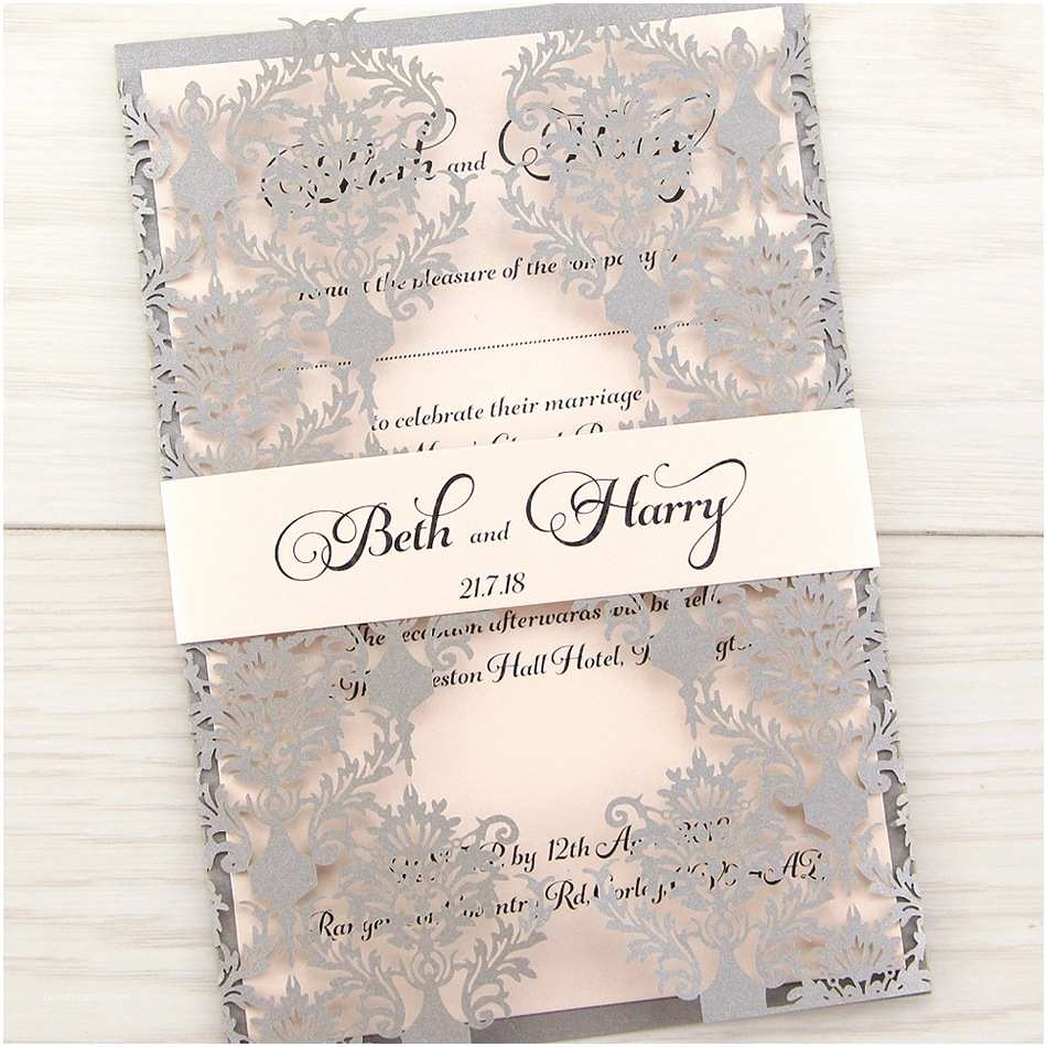 Wedding Invitations Rosa with Belly Band