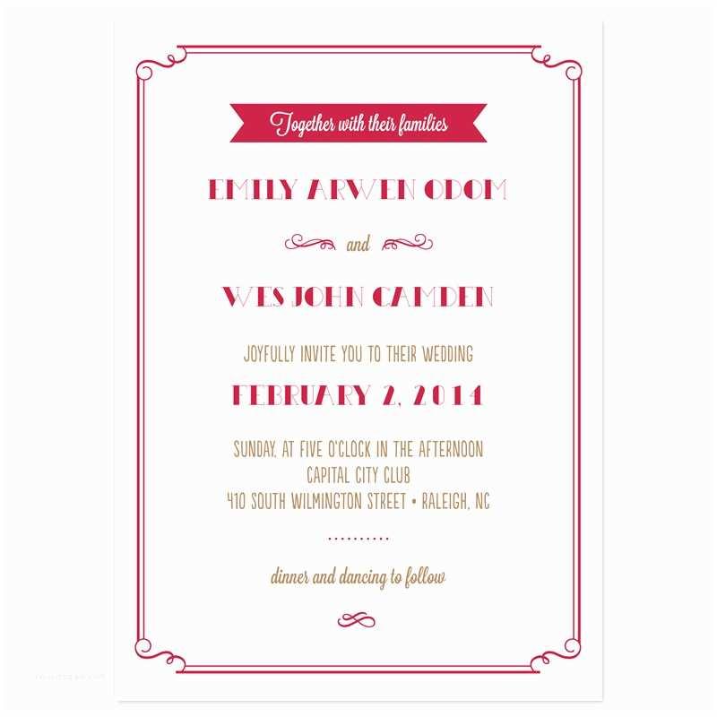Wedding Invitations Samples Sample Wedding Invitation