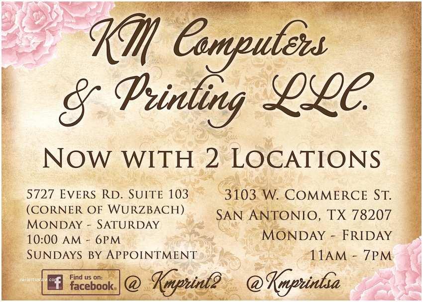 Wedding Invitations San Antonio Km Print Custom Invitations San Antonio