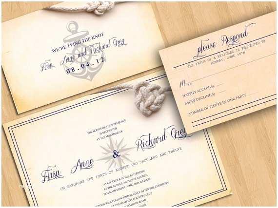 Wedding Invitations San Diego Nautical Wedding Invitation Beach Destination Wedding