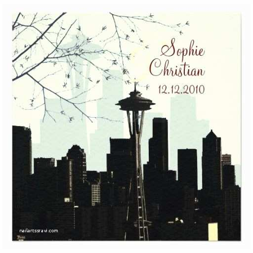 Wedding Invitations Seattle 1000 Images About Seattle Skyline Wedding theme On