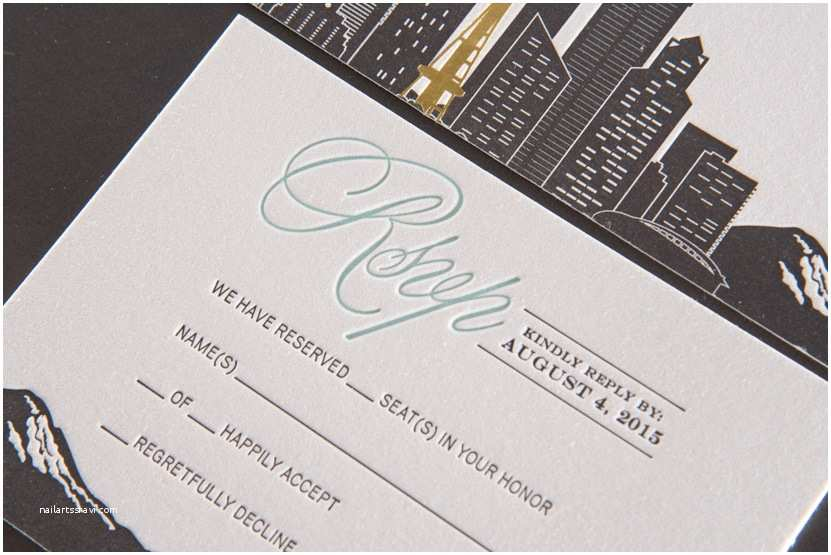 Wedding Invitations Seattle formal Seattle Wedding Invitations – Pike Street Press