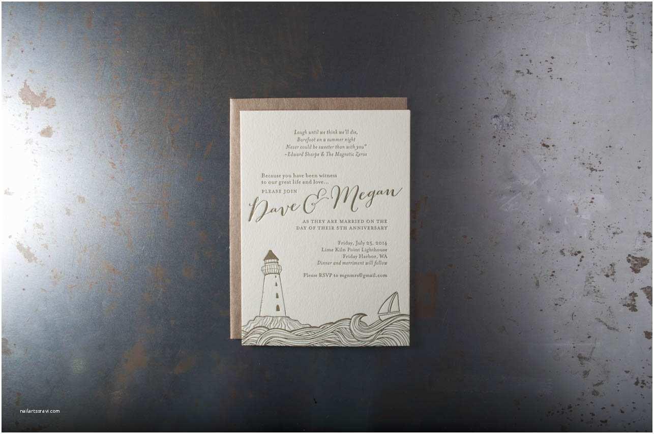 Wedding Invitations Seattle Friday Harbor Invitations – Pike Street Press