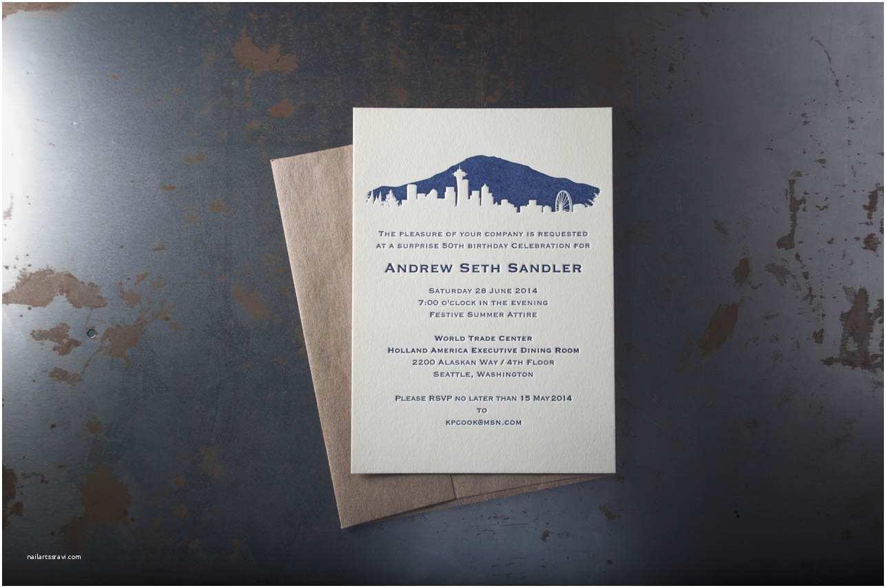 Wedding Invitations Seattle Seattle Skyline Wedding Invitations – Pike Street Press