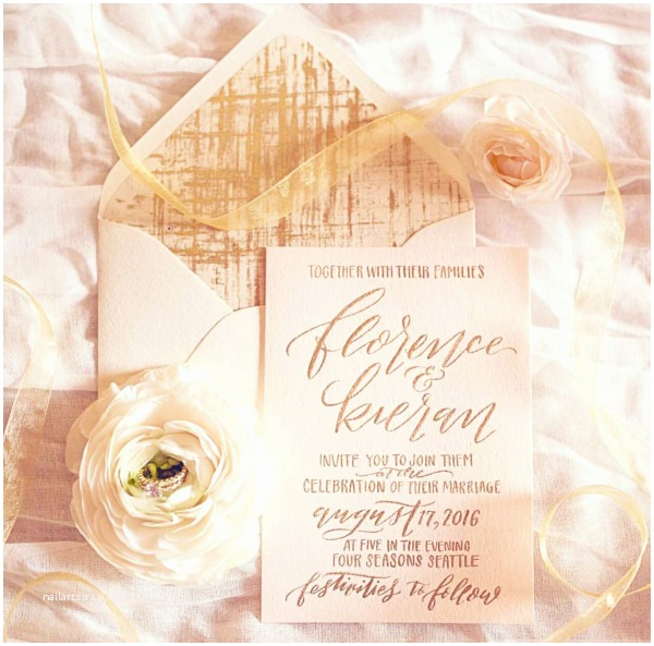 Wedding Invitations Seattle Seattle Wedding Calligraphy – Cable Car Couture