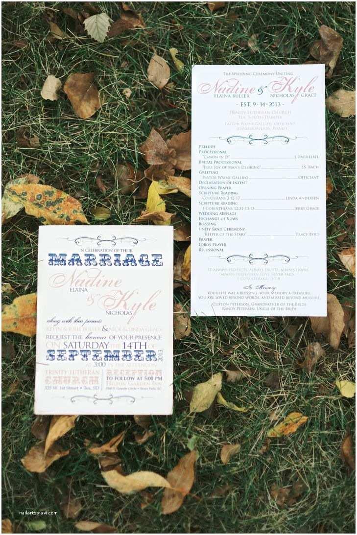Wedding Invitations Sioux Falls Sd A Rustic Autumn Wedding In Sioux Falls Sd