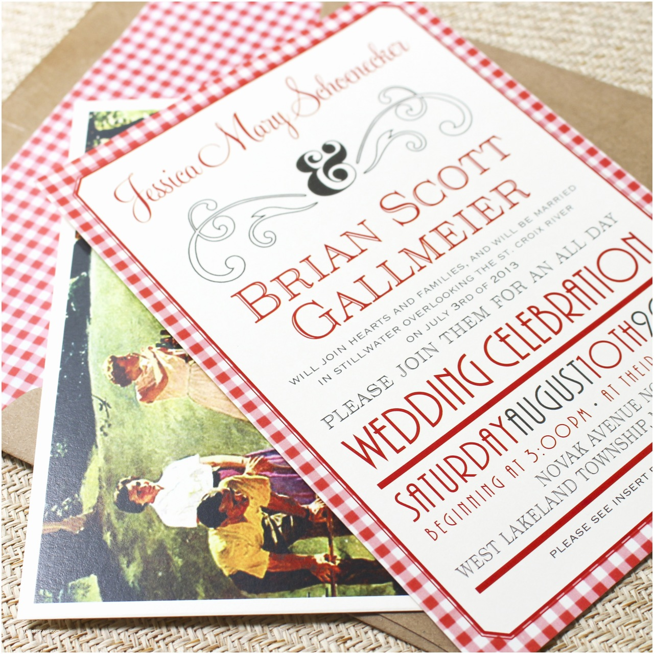 Wedding Invitations Stillwater Mn Picnic Celebration Flat Card Wedding Invitation West