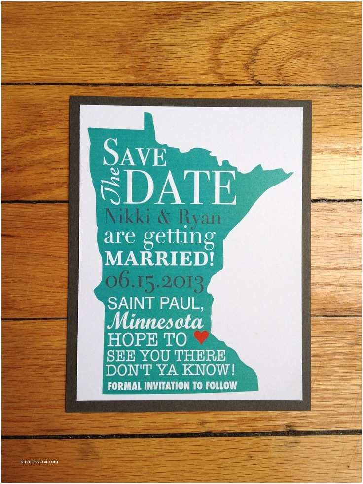 Wedding Invitations Stillwater Mn State themed Save the Date Minnesota Example $2 00 Via
