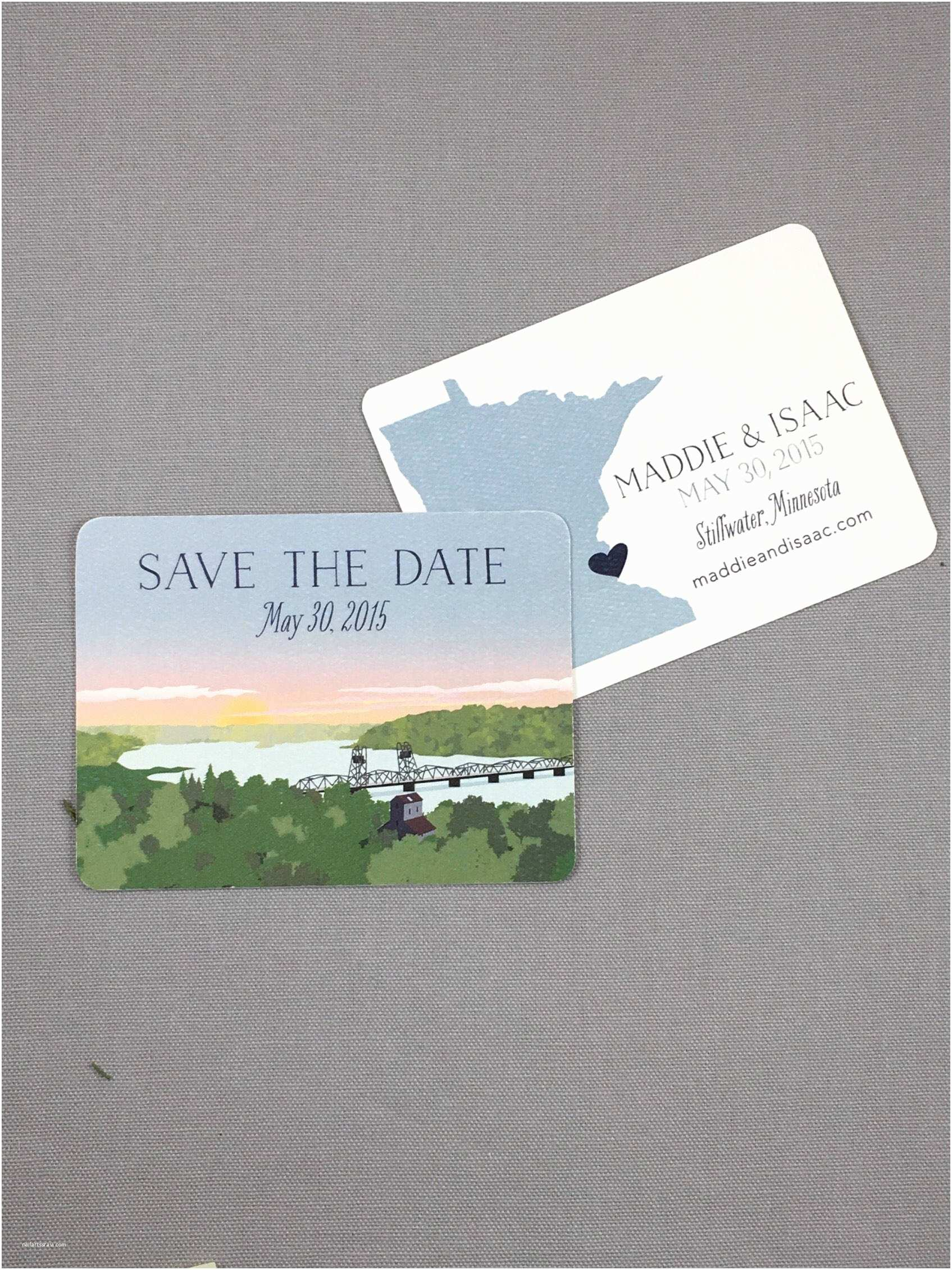 Wedding Invitations Stillwater Mn Stillwater Minnesota Wedding Save the Date Notecards with