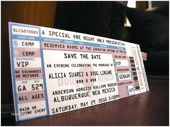 Wedding Invitations that Look Like Tickets Invitations that Look Like Concert Tickets Cobypic