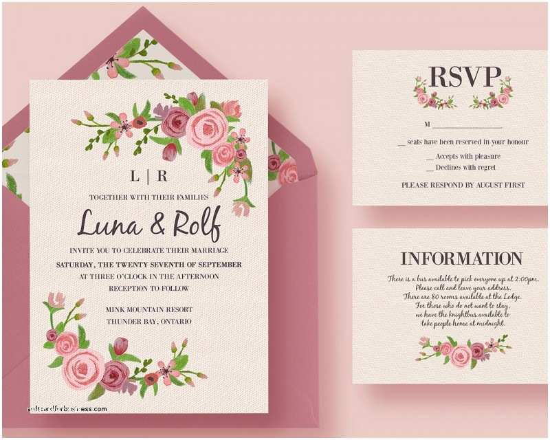 Wedding Invitations to Print at Home for Free Best Make Your Own Wedding Invitations at Home S