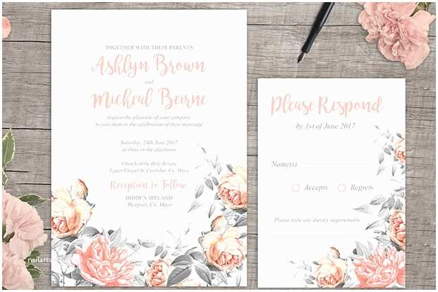 Wedding Invitations to Print at Home for Free Create Your Own Wedding Invitations Free Printable