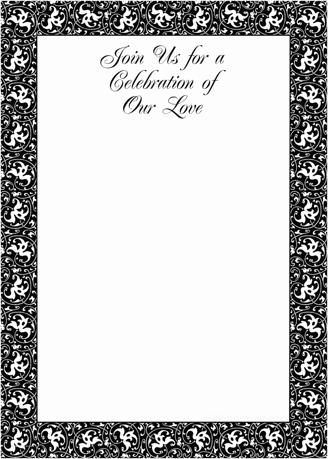 Wedding Invitations To Print At Home For Free Email Invitation