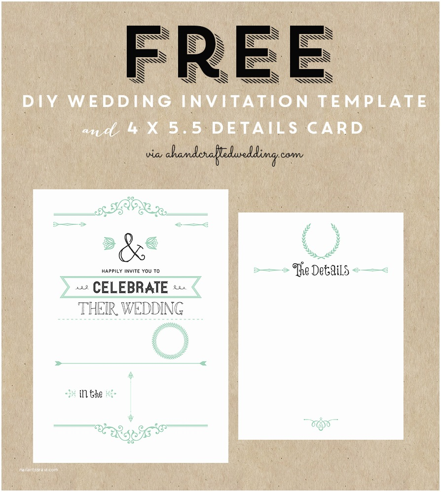Wedding Invitations to Print at Home for Free Free Rustic Wedding Invitation Templates