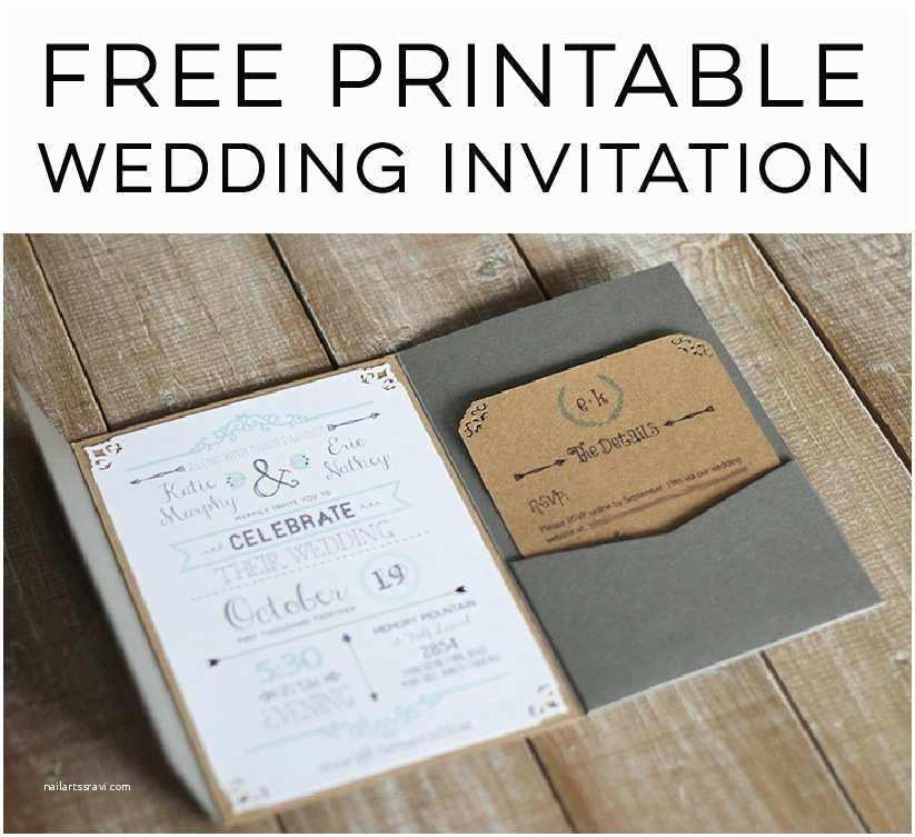 Wedding Invitations to Print at Home for Free Free Wedding Invitation Template
