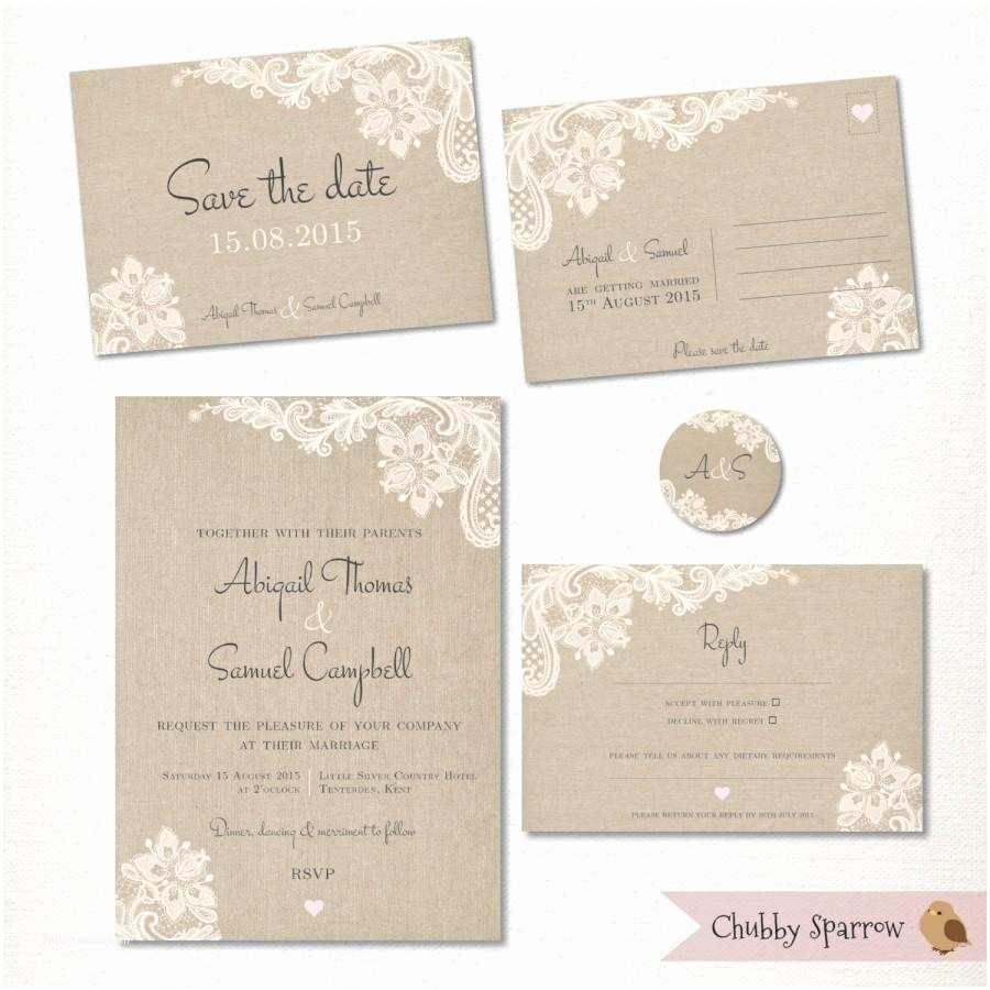 Wedding Invitations To Print At Home For Free Wedding Invitation Save The Date Postcard Lace And